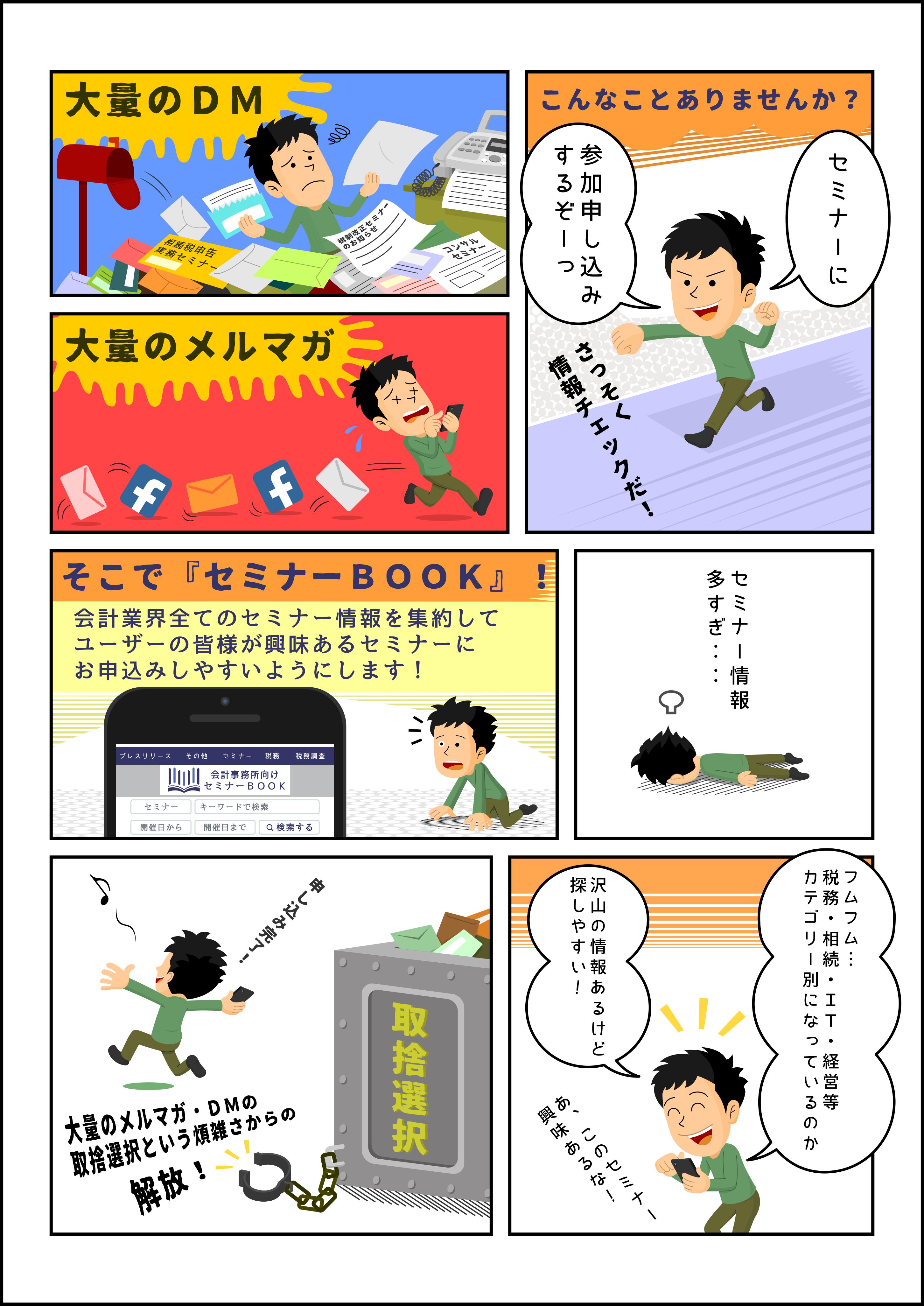 会員マイページ画面の漫画